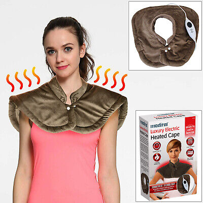 Medital Electric Heated Cape Neck Shoulder Back Warmer Heat Pad For Pain Relief • 23.84£