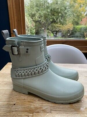 Pale Blue Special Edition Hunter Wellies Size 5 38 Short - Very Good Condition • 26£
