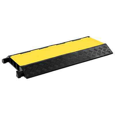 VidaXL Cable Protector Ramp 3 Channels Rubber 93cm Conduit Wire Road Cover • 45.99£