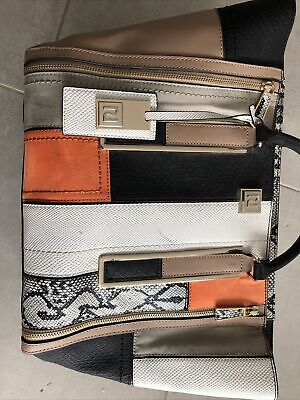 River Island Beige/black Winged Tote Bag Autumn Colours • 4.80£