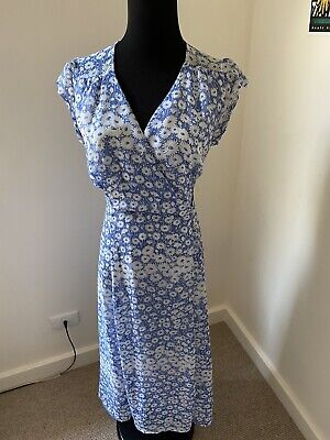 AU30 • Buy Urban Outfitters Wrap Dress Blue Small 8