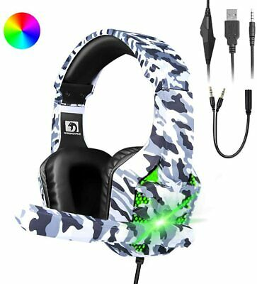 AU33.74 • Buy Gaming Headset For Xbox One PS4 PC Laptop Stereo Mic Headphones 7 RGB Backlit AU