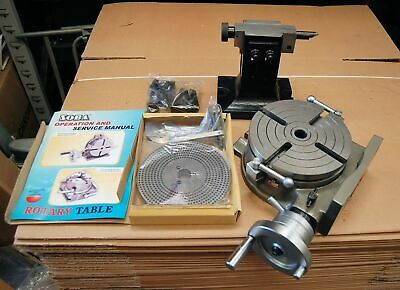 Soba 8″ 200mm Rotary Table Set With Tailstock & Plates For Milling • 342.85£