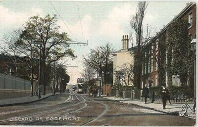 Wirral Egremont - Liscard Road + Tram In Distance - Chromo Litho Pre 1910 • 3.99£