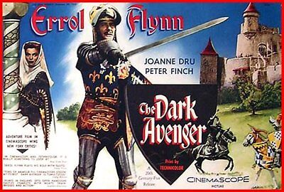 The Dark Avenger Dvd  Aka  The Warriors Starring Errol Flynn • 3.50£