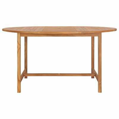 VidaXL Solid Teak Wood Garden Table 150cm Kitchen Dining Room Picnic Table • 185.99£