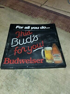 $ CDN65.75 • Buy Vintage Bud This Buds For You Beer Light Up Sign Anheuser-Busch Budweiser