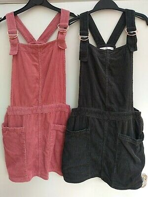 Pair Of M&S Girls Dungaree Dresses Age 11-12 Years • 5£