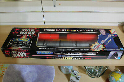 1998 Hasbro Darth Maul Double-Bladed Lightsaber BOXED • 200£