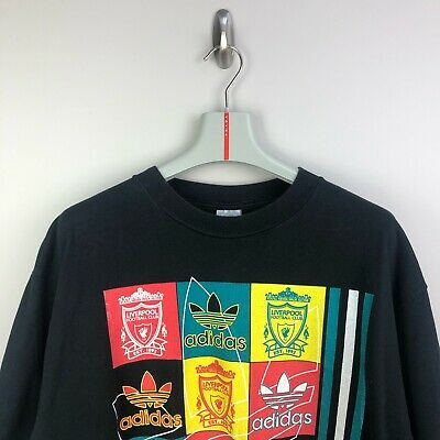 'Adidas' Liverpool FC Coca Cola Cup Winners 1995 Single Stitch Print T-Shirt • 59.99£