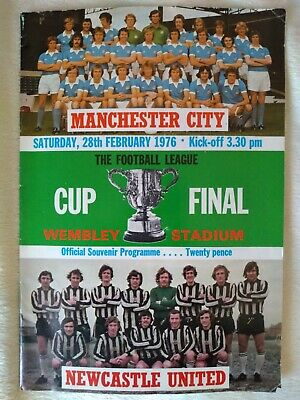 League Cup Final Programme 1976 Manchester City V Newcastle United • 5£
