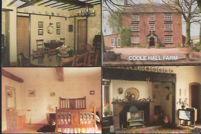 Hankelow, Cheshire Nr Nantwich - Coole Hall Farm, Map - Advertising Card C.1980s • 3.50£