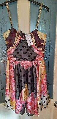 Guess Fit And Flare Floral Dress  Size 8 New With Tags RRP £55 • 12£
