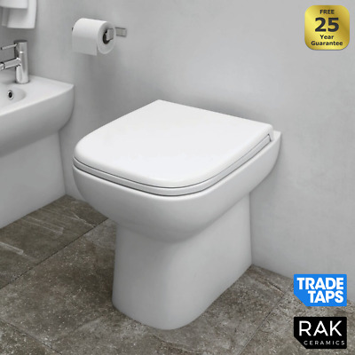 £104.95 • Buy RAK Compact Short Projection Back To Wall BTW Toilet Pan WC & Soft Close Seat
