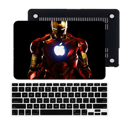 $14.56 • Buy Iron Man Rubberized Hard Cut Out Case Cover For New Macbook Pro Air 11 12 13 15