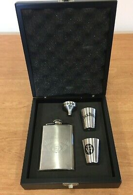 Jack Daniels Hip Flask Gift Set With Funnel And Shot Cups (D1) • 2.99£