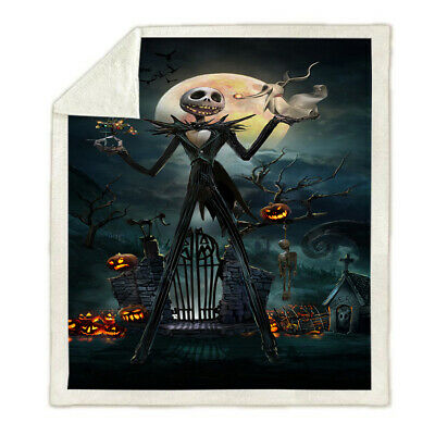 The Nightmare Before Christmas Large Fleece Blanket Throw Sofa Soft Warm Thick • 21.68£