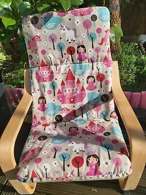 Ikea Poang Kids Chair Cover, Slipcover,children's Cushion,washable,padded • 20£