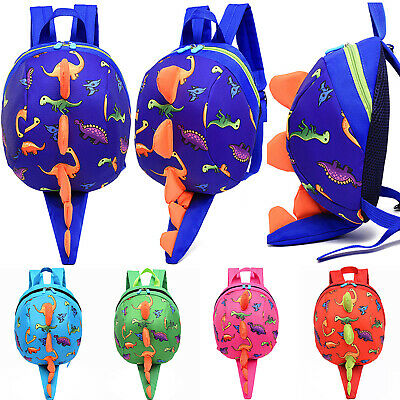 Toddler Kids Boys Girls Dinosaur Safety Harness Backpack School Bags With Reins • 9.49£
