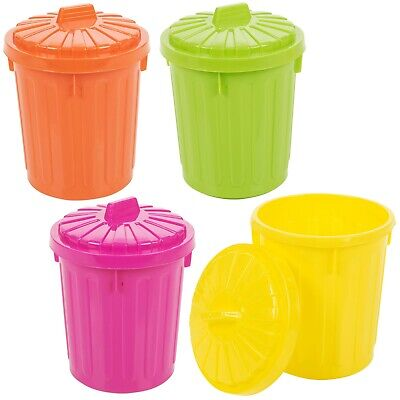 £5.99 • Buy Small Plastic Colorful  Recycle Desk Tidy Rubbish Waste Bin With Lockable Lid