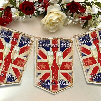 New Years Eve Bunting Garland 2021 Party Decor Banner NYE Decoration Union Jack • 5.99£