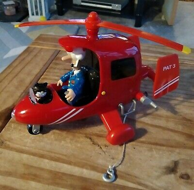 Postman Pat In Helicopter With Jess The Cat Talking Music & Lights 2008❤️ READ • 10.90£
