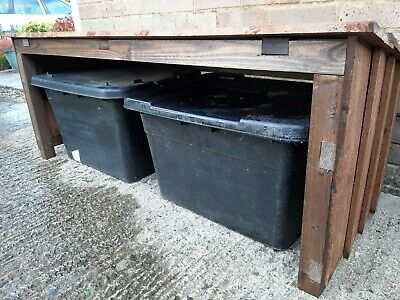 2 BOX RECYCLING STORAGE SHELTER. Treated Wood, Freestanding. Self Assembly. New • 62.50£