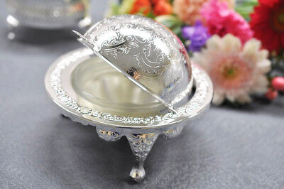 £18.49 • Buy Vintage Silver Plated Revolving Butter Dish / Caviar Dish- Gift -Sale