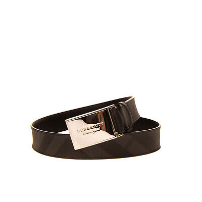 RRP €265 BURBERRY Belt Size 75/30 Leather Lining Grainy Check Pattern Buckle • 29.99£