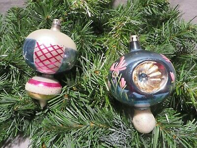 $ CDN14.47 • Buy Pair Of Vintage Polish Blown Glass Christmas Ornaments