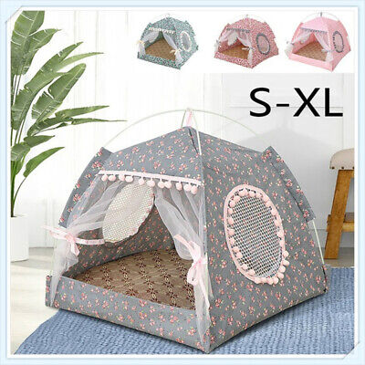 Pet Dog Cat Nest Bed Tent House Puppy Cushion Warm Comfy Sleeping Winter Fluffy • 10.79£