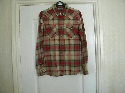Ladies Ralph Lauren Green /red Check Silk/cotton Long Sleeve Shirt Size 10 • 10£