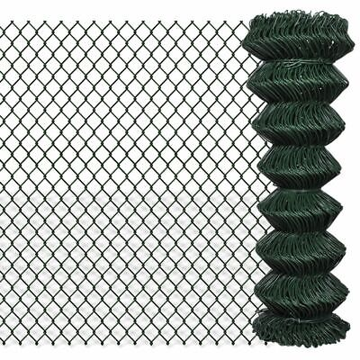 VidaXL Chain Fence 1.25x25m Outdoor Garden Wire Mesh Panel Fencing Barrier • 63.99£