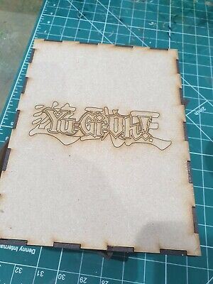 Trading Cards Storage Box 300+ Cards. Yu Gi Oh! Strong 3mm MDF Unassembled. • 8.50£