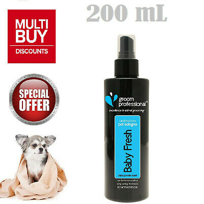 Groom Professional Baby Fresh Pet Cologne Dogs Spray Strong Smell 100/200/500ml • 6.97£