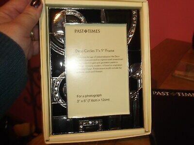 Past Times Photo Picture Frame Art Deco Circles Boxed New • 11.50£