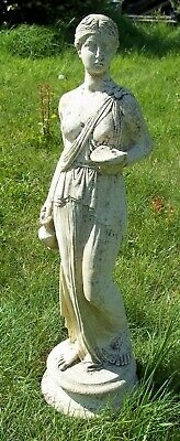 Large VINTAGE Garden Statue 'HEBE' Greek Goddess Of Youth. 2ft 3inches Tall. • 50£