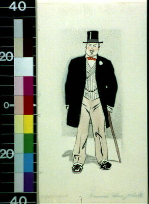 Monsieur Fripponet,Man,1909?,Edward Penfield,Wearing Top Hat,Walking Cane 6396 • 9£