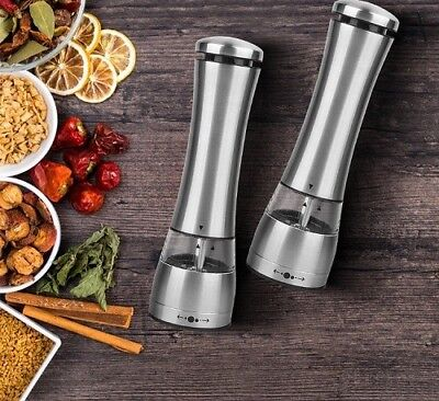 1 X  Electric Salt And Pepper Mill Grinder With Light • 12.99£