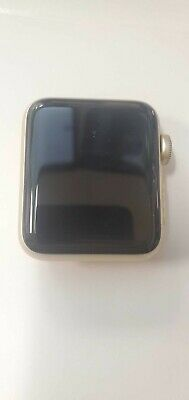 $ CDN97.04 • Buy Apple Watch Series 2 38mm GPS Gold / White Sport Band CRACKED SCREEN-WORKING