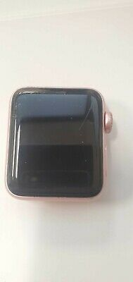 $ CDN88.56 • Buy Apple Watch Series 2 38mm Rose Gold Pink Sport Band -CRACKED SCREEN-WORKING