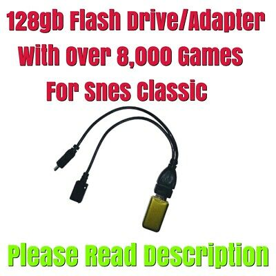 $ CDN112.32 • Buy SNES Classic 128gb Flash Drive Only With Over 8,000 Games SEE DESCRIPTION