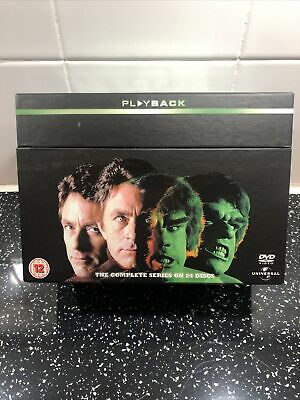 The Incredible Hulk - Series 1-5 - Complete (DVD, 2008, 24-Disc Set) (L10) • 20£