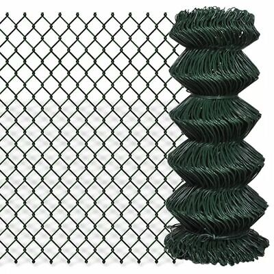 VidaXL Chain Fence 0.8x15m Green Garden Patio Wire Mesh Panel Fencing Barrier • 40.99£