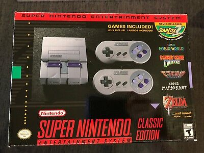 $ CDN27.09 • Buy Authentic SNES Super Nintendo Classic Mini Super Entertainment System 21 Games