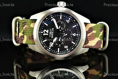 $ CDN71.81 • Buy ➤NEW Invicta Men 46mm COALITION FORCES FIELD TESTED Silver Watch W/FREE 5 Straps