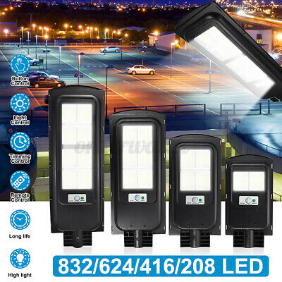 1500W/2500W Solar Street Light PIR Motion Sensor Outdoor Wall Lamp + Remote UK • 36.99£