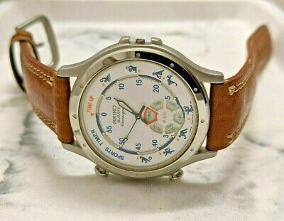 $ CDN71.85 • Buy Vintage Seiko 8M32-8030 Sports Edition Chronograph Men's Watch   (For Parts)