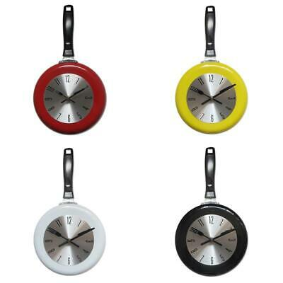 Wall Clock Metal Frying Pan Design 8 Inch Clocks Kitchen Decoration Art Watch • 18.71£