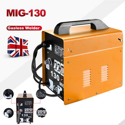 Portable Welder MIG-130 No Gas Auto Wire Feed 230V Welding Machine Electric Kit • 89.99£